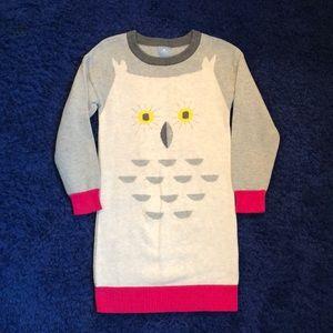 Baby Gap Owl Sweater Dress, Size 5